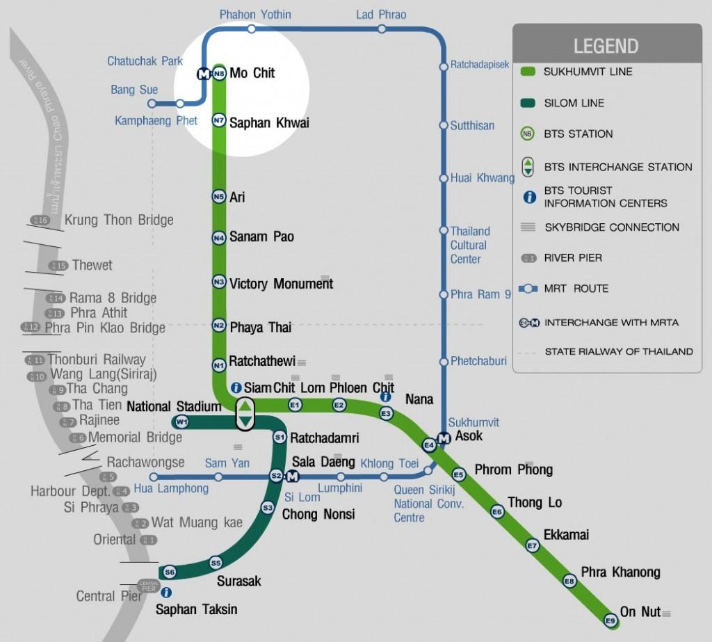 Skytrain Bangkok - Terminus Mo Chit