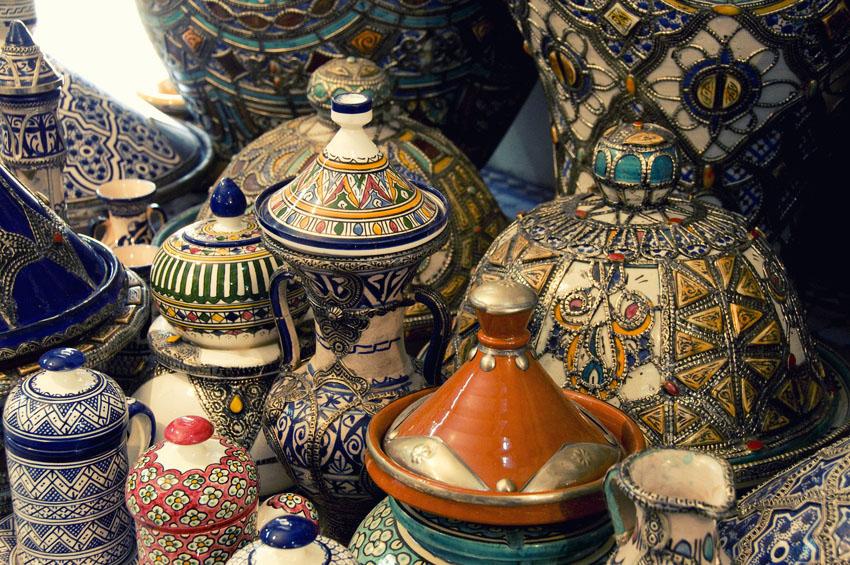 Poteries de Fes, Maroc.
