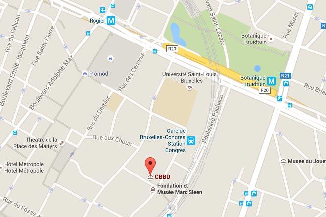 Carte centre de la BD à Bruxelles