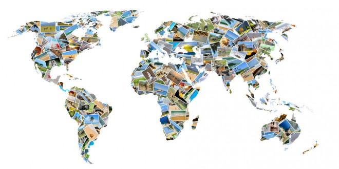 Carte du monde en photos