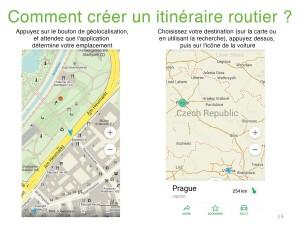 Maps me créer un itinéraire