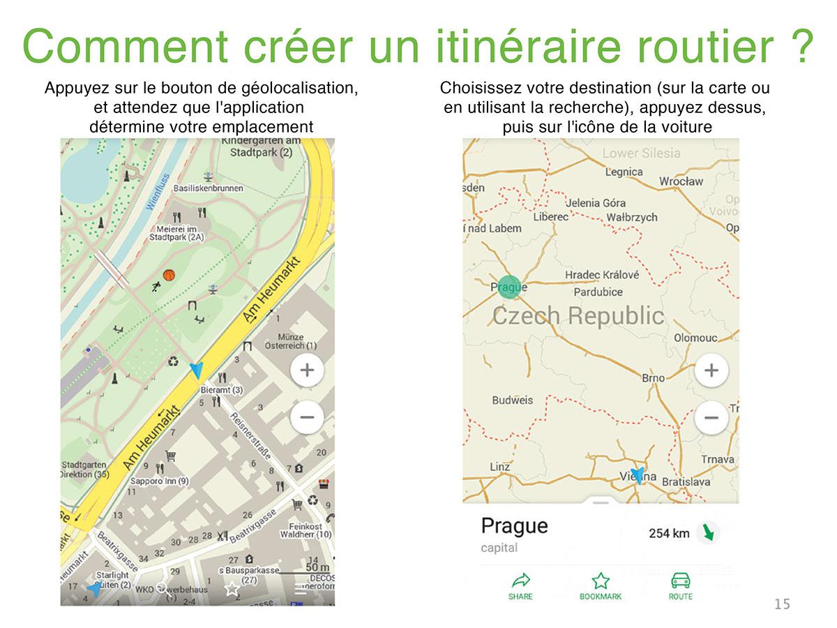 Maps me : application pour voyageurs   Vojagado
