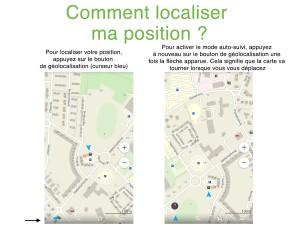 Géolocalsier sa position avec Maps.me