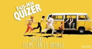 affiche du film Little Miss Sunshine avec les personnages du films qui courent après un minivan jaune