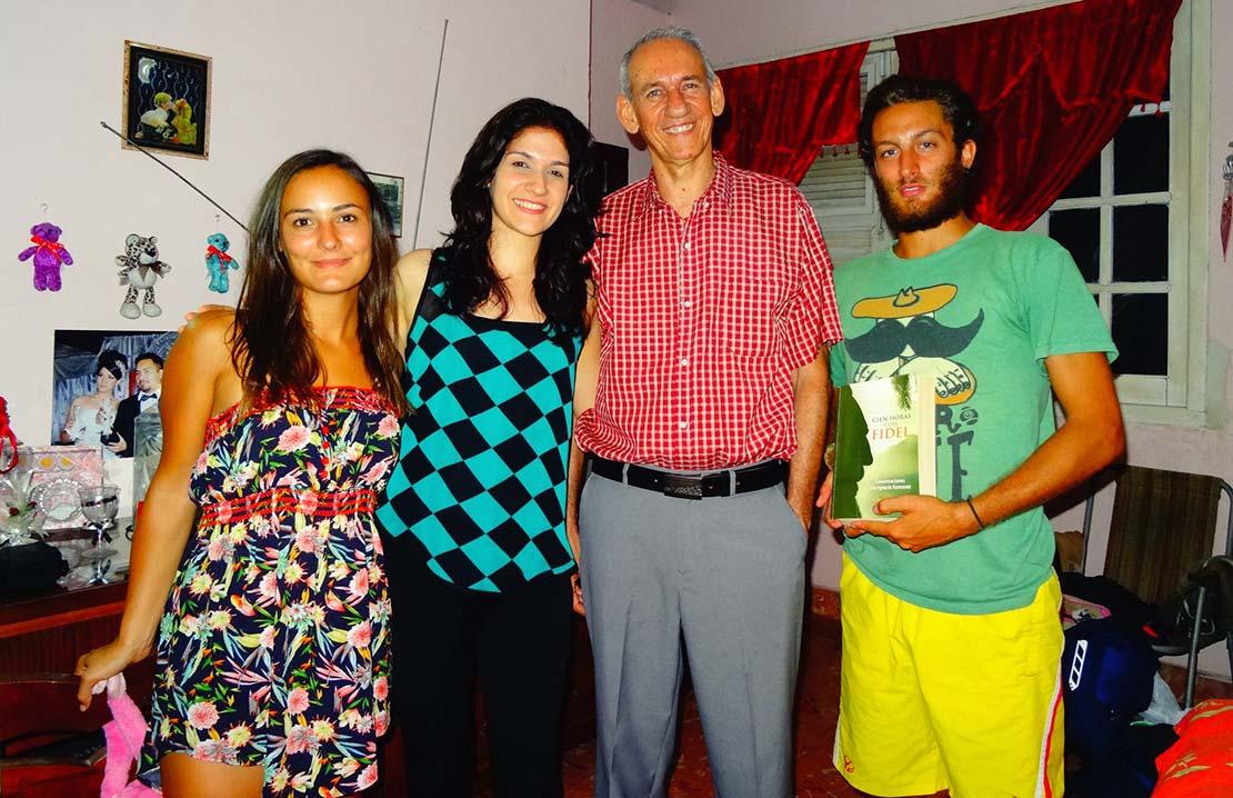 Jeanne et Stefenn se sont faits de nouveaux amis à Cuba, en Amérique Latine