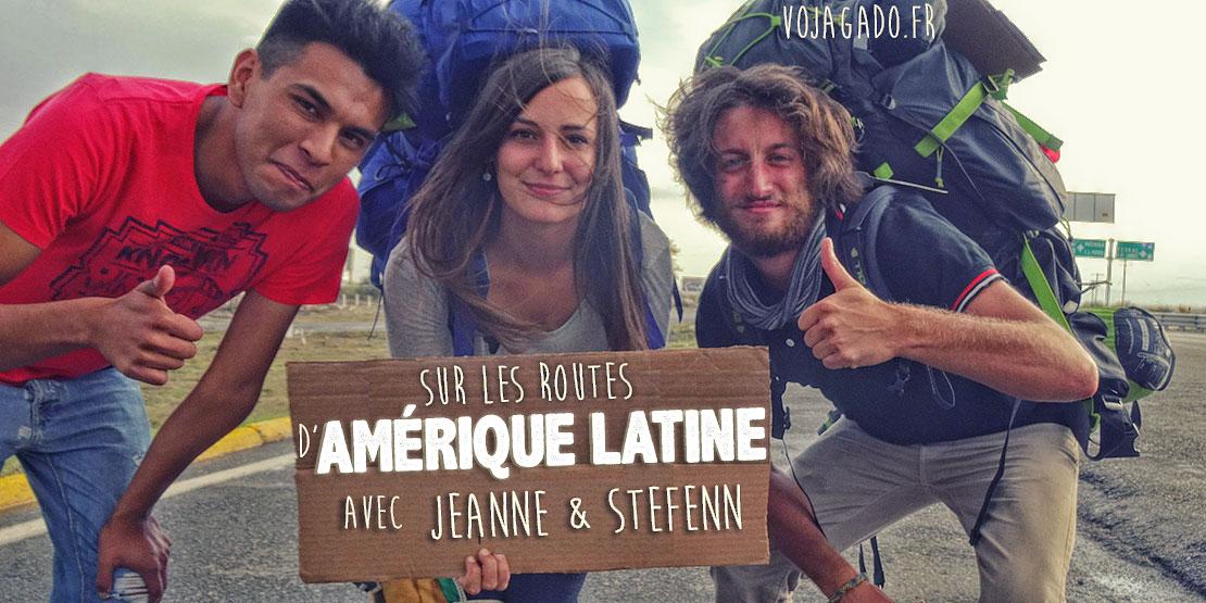 Jeanne et Stefenn sont sur la route et font du stop au mexique, avec leur sac à dos