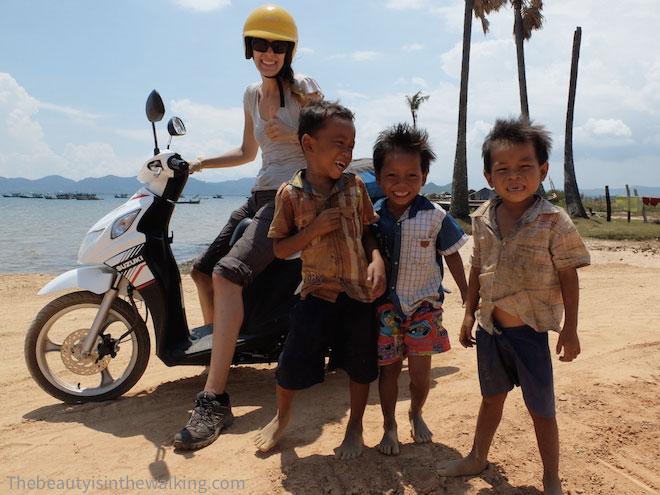 Enfants à Kep au Cambodge
