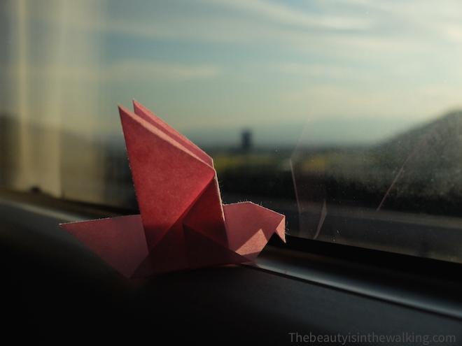 Origami dans un train