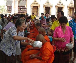 Songkran, monastère Wat Kungthapao