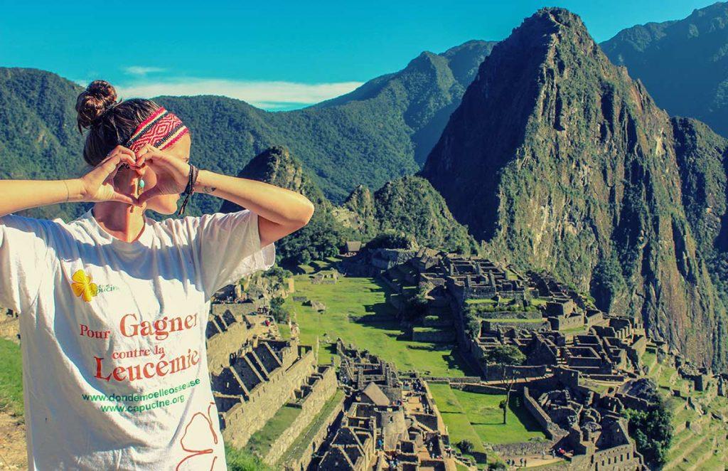 maryne devant le Machu Picchu