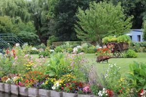 jardin dans les hortillonnages à Amiens