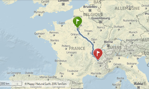itinéraire paris-grenoble