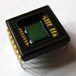 photo en gros plan d'un capteur de reflex numérique de type CCD