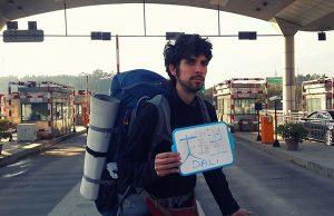 volontariat asie raphael fait du stop