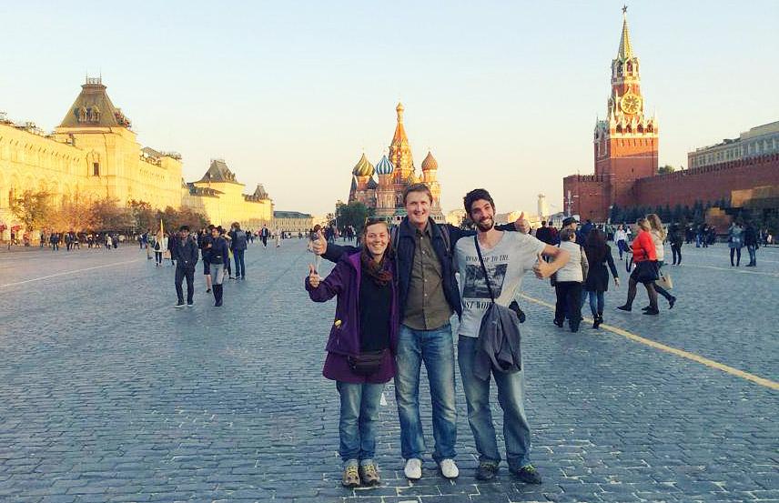 volontariat asie laura et raphael sont à Moscou